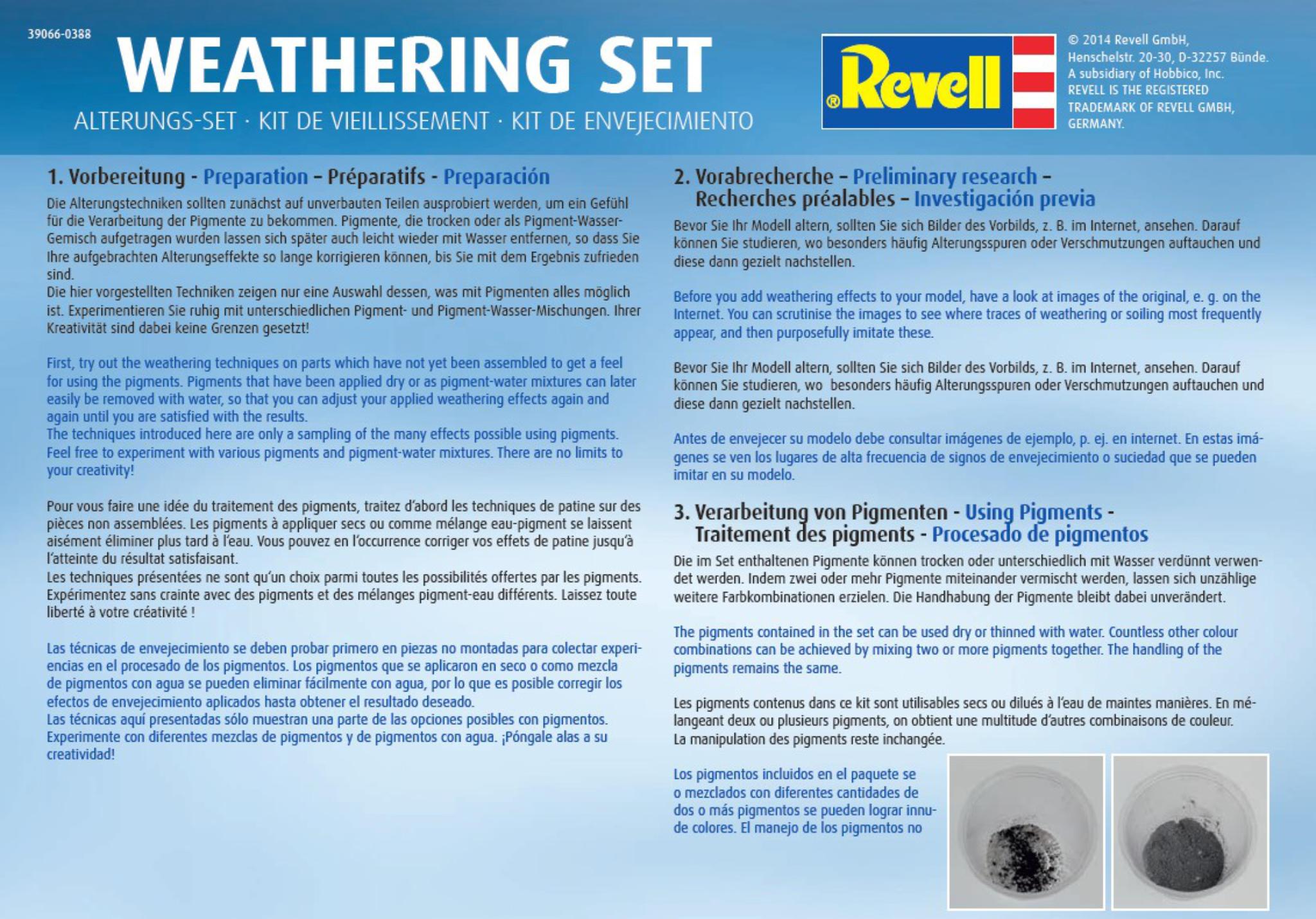 6 Pigmente Revell 39066 Weathering Set